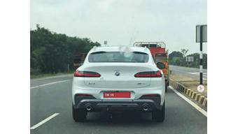2019 BMW X4 spotted on test in India