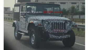 Second-Gen Mahindra Thar spotted testing