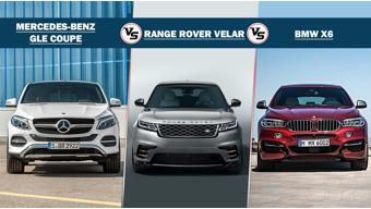 Range Rover Velar vs BMW X6 vs Mercedes-Benz GLE Coupe