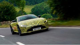 2018 Aston Martin V8 Vantage revealed with camouflaged body