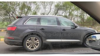 Audi SQ7 spied testing in India