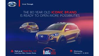 Datsun has confirmed the unveil of Go-Cross at 2016 Auto Expo