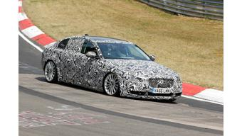 Jaguar XE long wheelbase spied