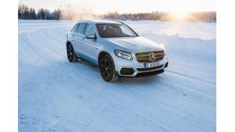 First teaser image of the Mercedes-Benz EQC and GLC F-cell released