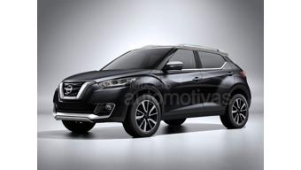 Nissan compact SUV Kicks production version rendered