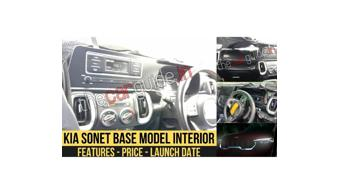 Kia Sonet base variant interiors leaked ahead of world debut next month