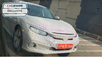 2019 Honda Civic spotted testing in Mumbai