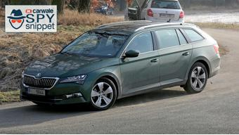 Skoda Superb facelifted spied on test