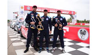 Inaugural round two race of Ameo Cup 2018 won by Saurav Bandhyopadhay