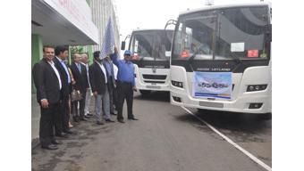 Ashok Leyland ceremoniously flags-off supply of vehicles to Zimbabwe, Exim Bank finances the initiate