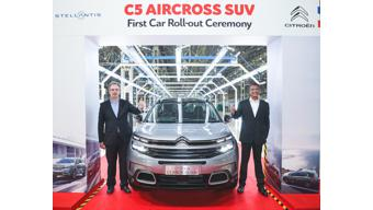 Citroen commences production of C5 Aircross in India; launch later this year