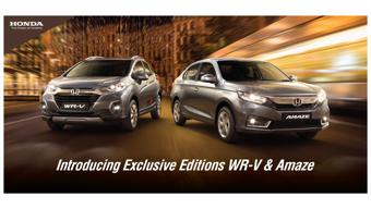 Exclusive Edition of Honda Amaze and WR-V launched