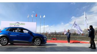 Hyundai Kona EV starts expedition to Everest base camp