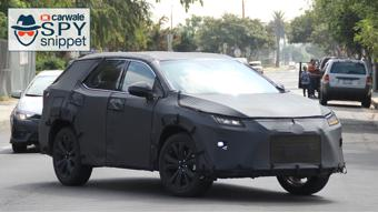 Three-row Lexus RX spotted testing