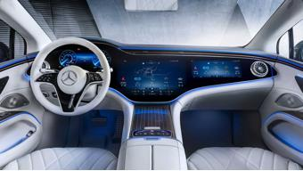 Mercedes-Benz EQS interior revealed; hyperscreen system debuts