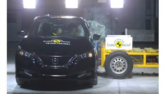 New Euro NCAP awards 5 stars safety rating for Nissan Leaf