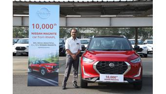 Nissan India surpasses 10,000 units production milestone for Magnite