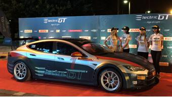 Tesla Model S readied for the Electric GT race series