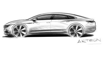 New Volkswagen Arteon gets teased
