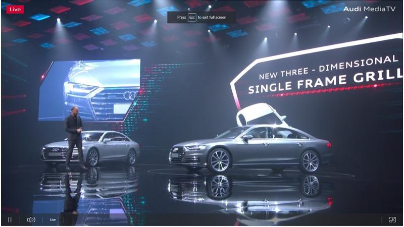 Audi reveals new-gen A8 flagship sedan