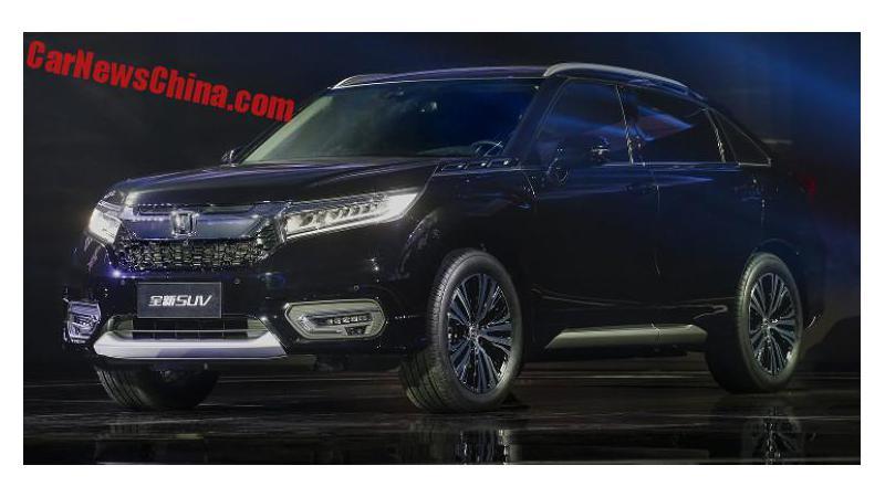 Honda Avancier SUV unveiled in China