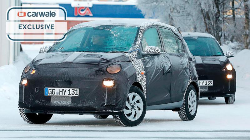 New Hyundai Santro spotted on test