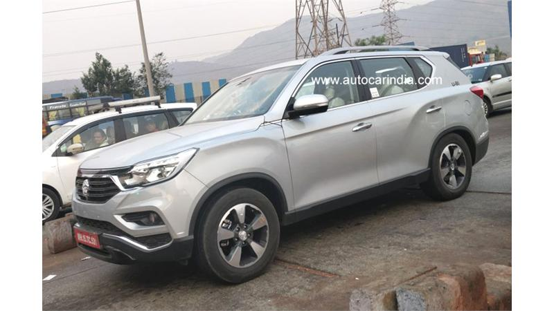 Ssangyong G4 Rexton with Mahindra badging spied
