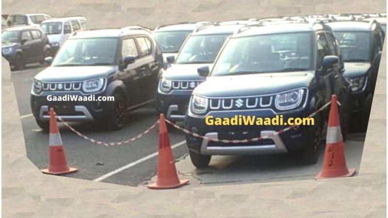 Maruti Suzuki Ignis facelift spotted in India