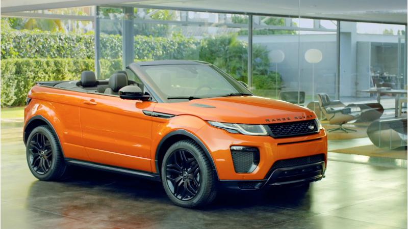 Range Rover Evoque convertible India debut on 27 March