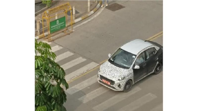 New-gen Hyundai Xcent spied during public road test