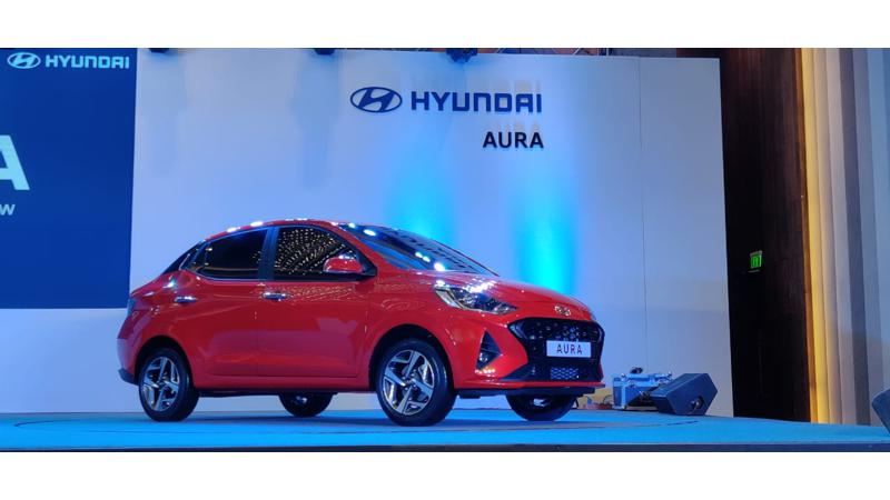 Hyundai Aura showcased in India