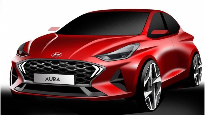 Hyundai Aura design details revealed in official sketches