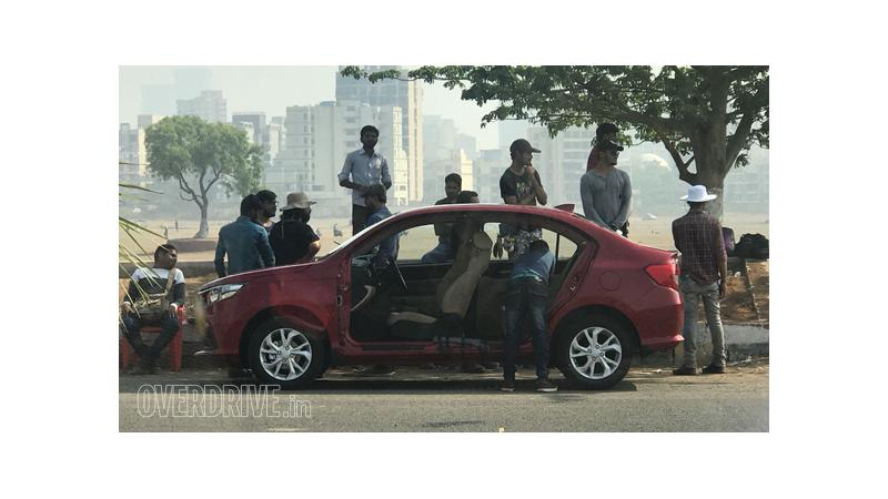 2018 Honda Amaze spied during TV commercial shoot