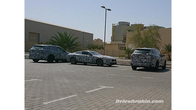 BMW trio spotted during hot weather testing in Dubai