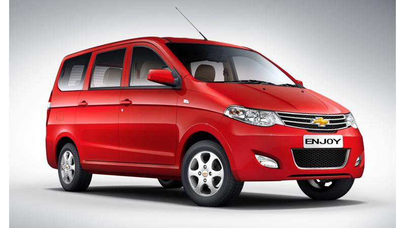 2015 Chevrolet Enjoy facelift launched; priced at Rs. 6.24 lakh