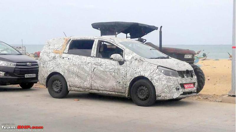 Mahindra U321 spied testing in Tamil Nadu