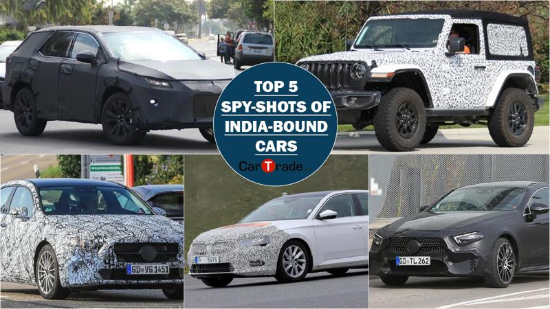 Top 5 spy-shots of India-bound cars