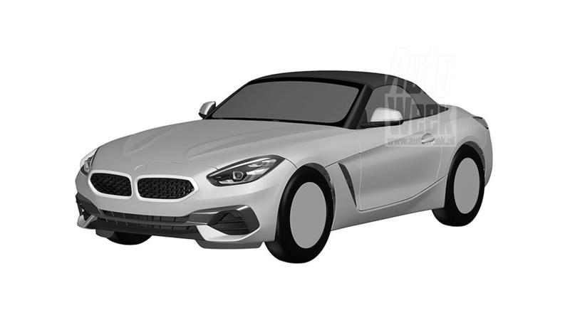Patent images for 2019 BMW Z4 surface online