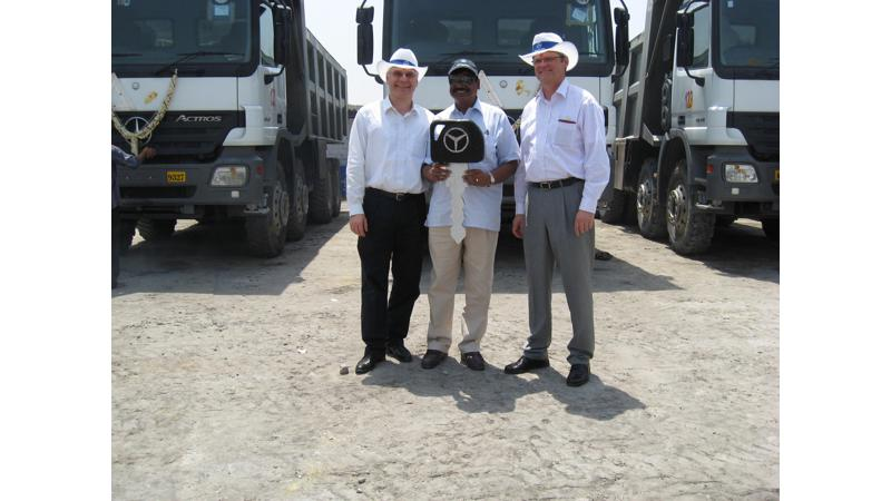 The first customers of Mercedes-Benz Actros now own 150 Actros trucks