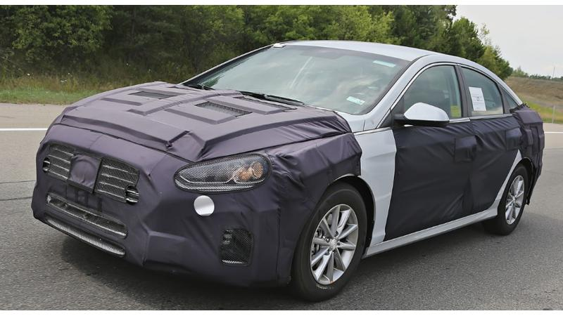 New Hyundai Sonata spotted on test