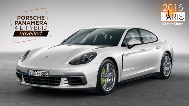 2016 Paris Motor Show: Porsche Panamera 4 E-Hybrid unveiled