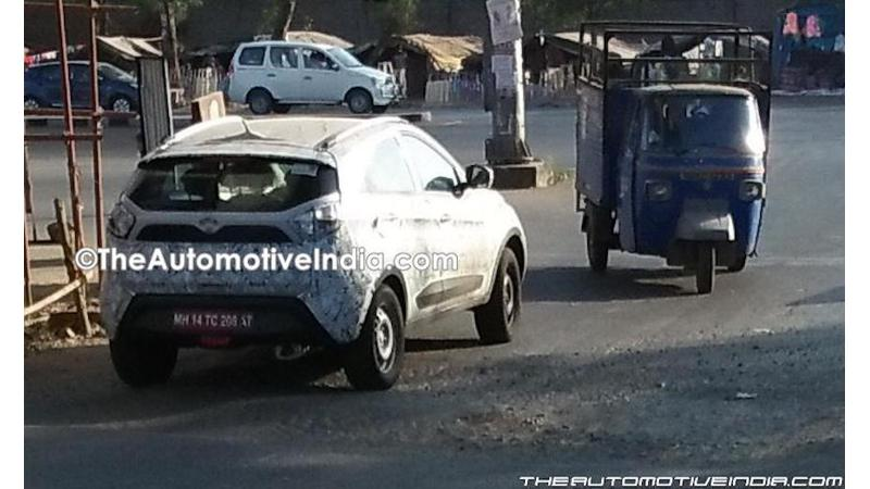 Tata Nexon spied on test again