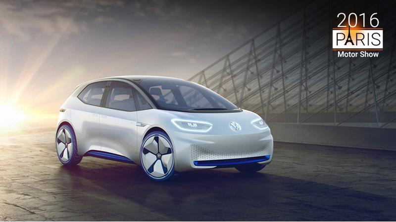 Volkswagen ID electric hatchback showcased at Paris 2016