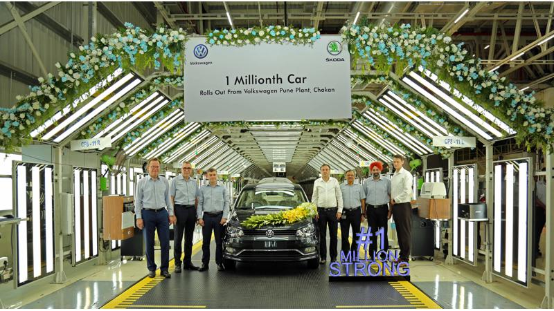 Volkswagen rolls out one millionth car from Chakan facility