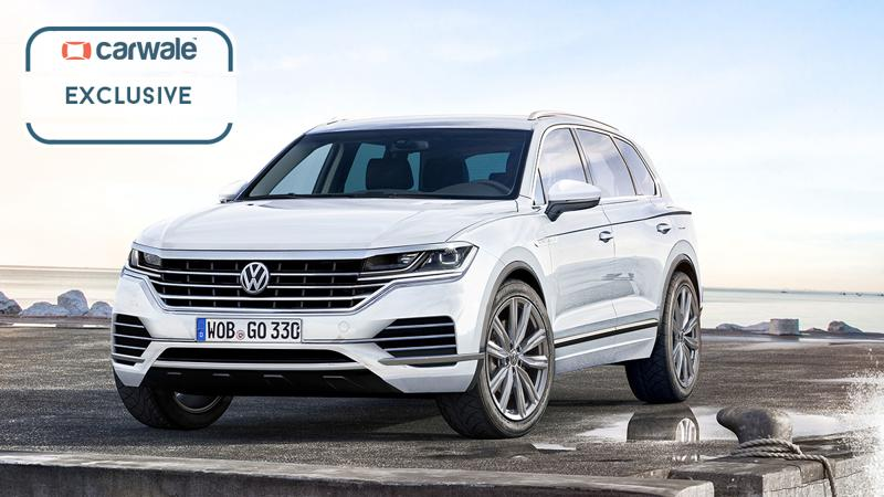 2019 Volkswagen Touraeg spotted in production guise