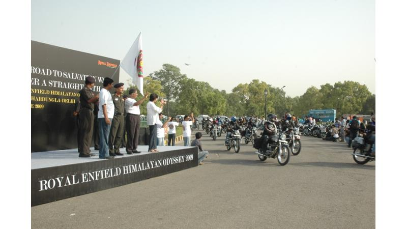 Royal Enfield flags off Himalayan Odyssey- 2009