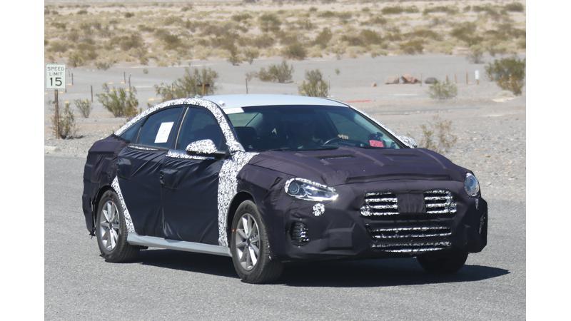 2018 Hyundai Sonata spied testing