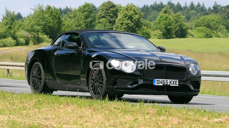 Next-generation Bentley Continental GT cabriolet spotted testing
