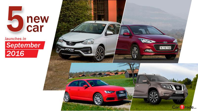 5 new car launches in September 2016