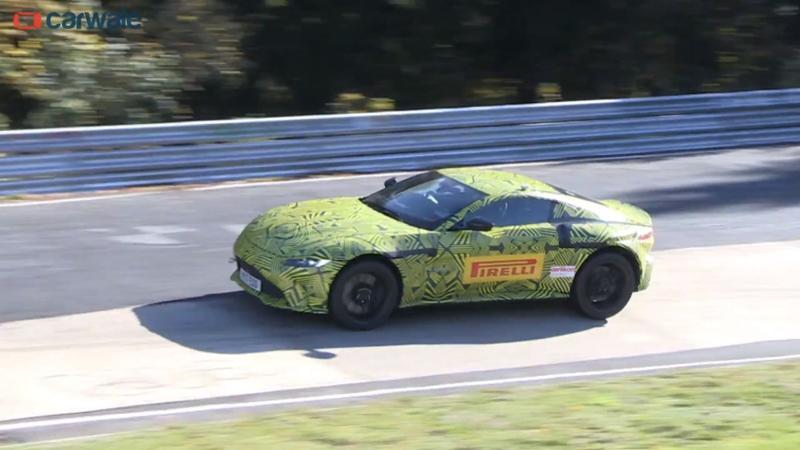 New gen Aston Martin spied at the Nurbugring